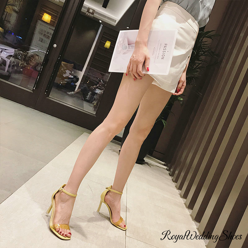 Sandal High Ankle Open Heeled Strap Toe xWdQeCrBo